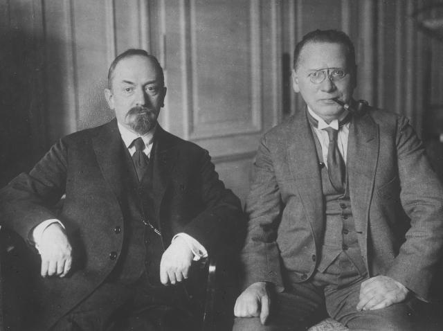 Георгий Чичерин и Максим Литвинов