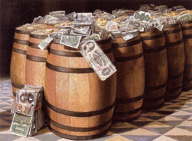 Виктор Виктор Дюбрей. Деньги в бочках. 1897