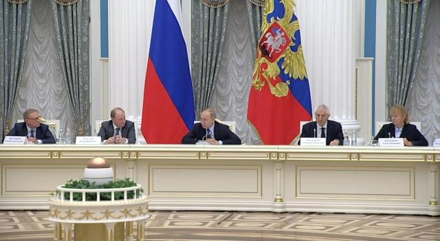 Владимир Путин на заседании Совета по русскому языку. Кремль. Москва. 5 ноября 2019