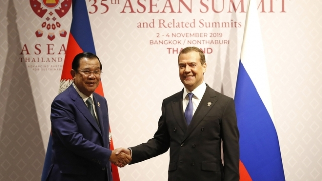 Встреча Дмитрия Медведева на полях саммита OCEAH в Бангкоке. 3 нобря 2019