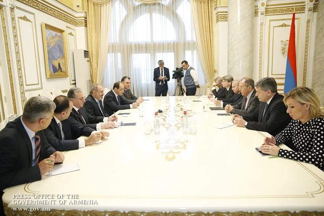 Встреча Никола Пашиняна и Сергея Лаврова