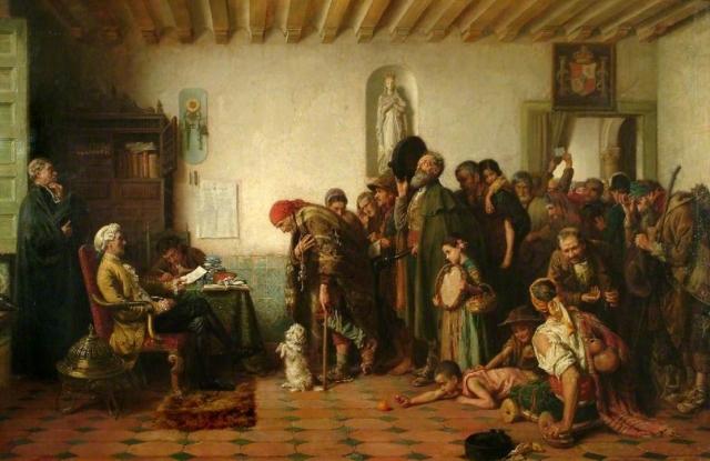 Джон Багнольд Бургесс. Выдача разрешений нищим. 1877
