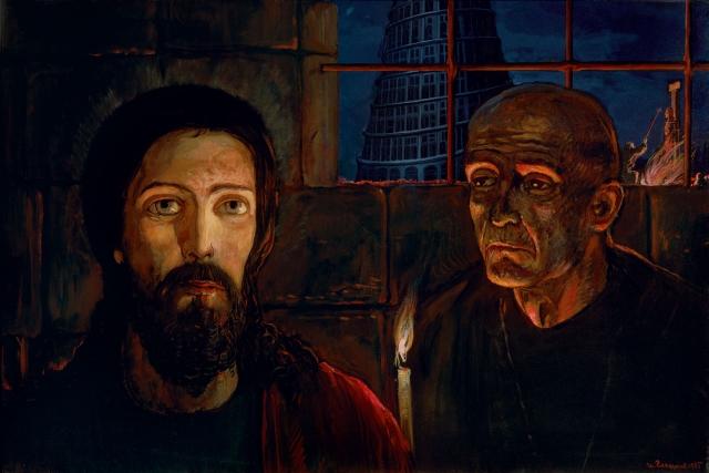 Илья Глазунов. Великий Инквизитор. Левая часть триптиха. 1985