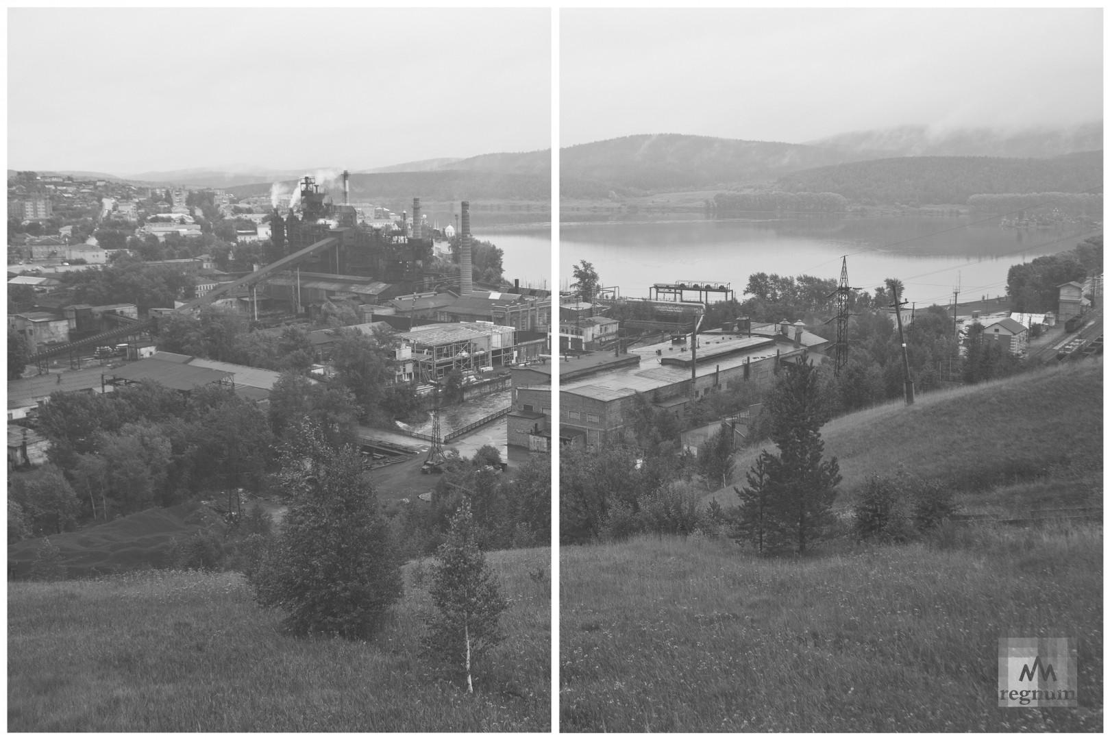Вид на городской пруд Сатки