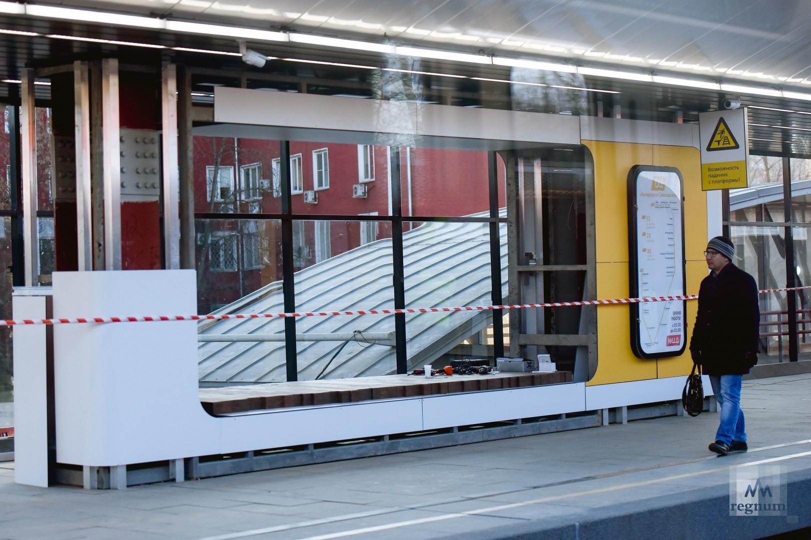 На платформе «Сетунь» реконструкция ещё не окончена