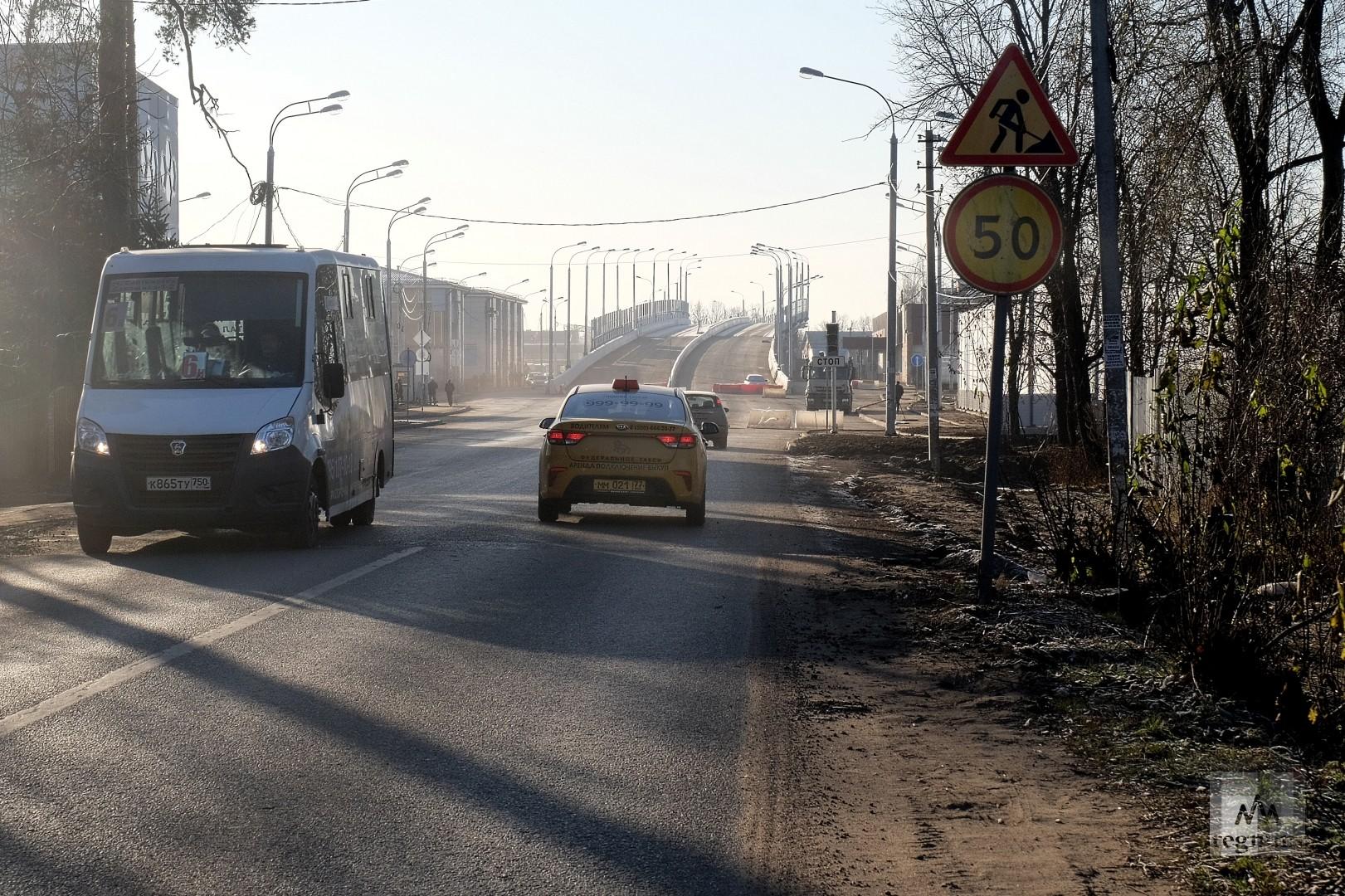 Разинское шоссе перед Салтыковской эстакадой