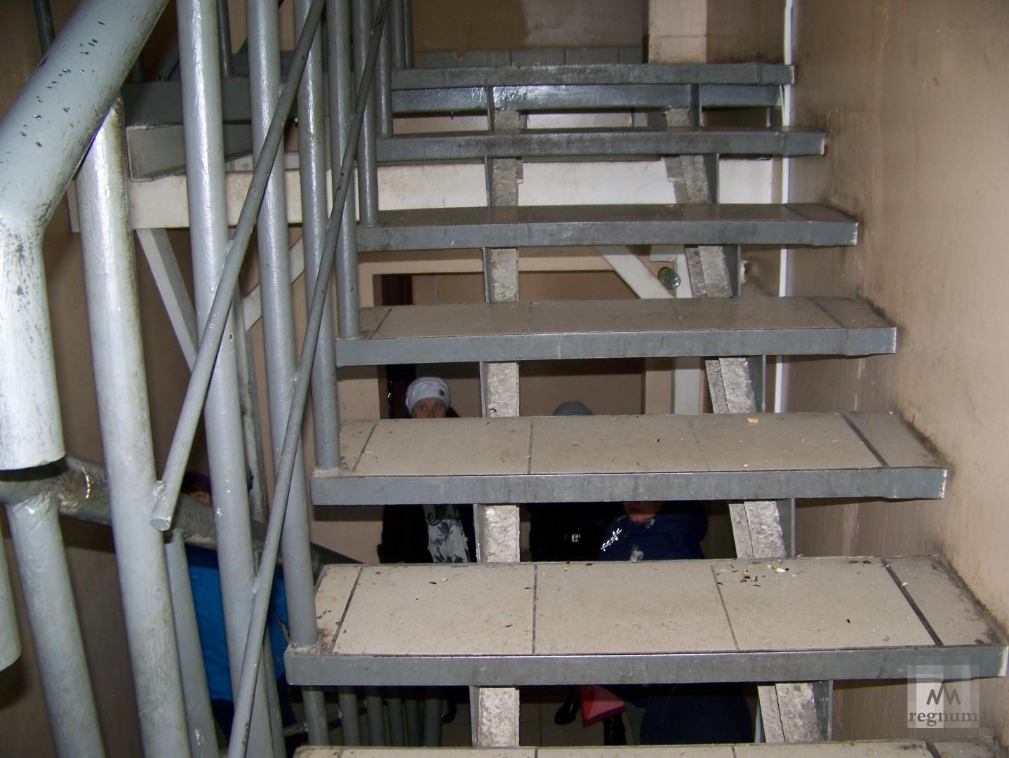 Лестница в подъезде дома на улице Спекова