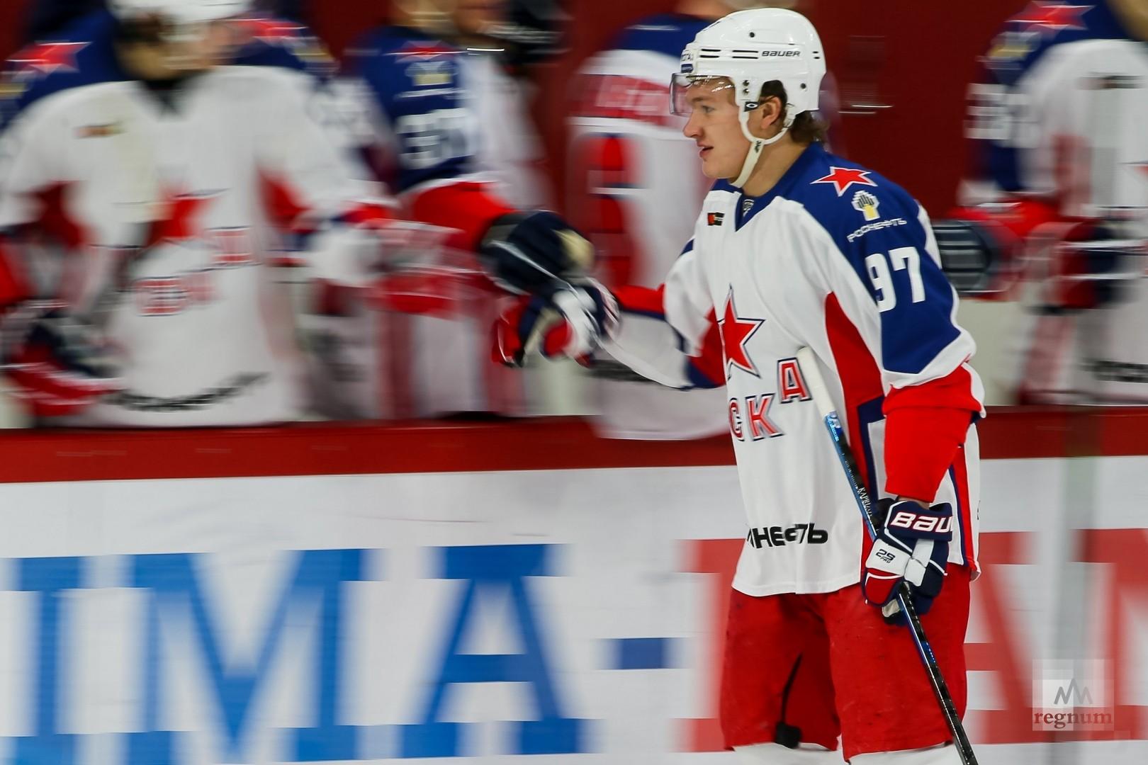 Кирилл Капризов забросивший единственную шайбу в составе москвичей