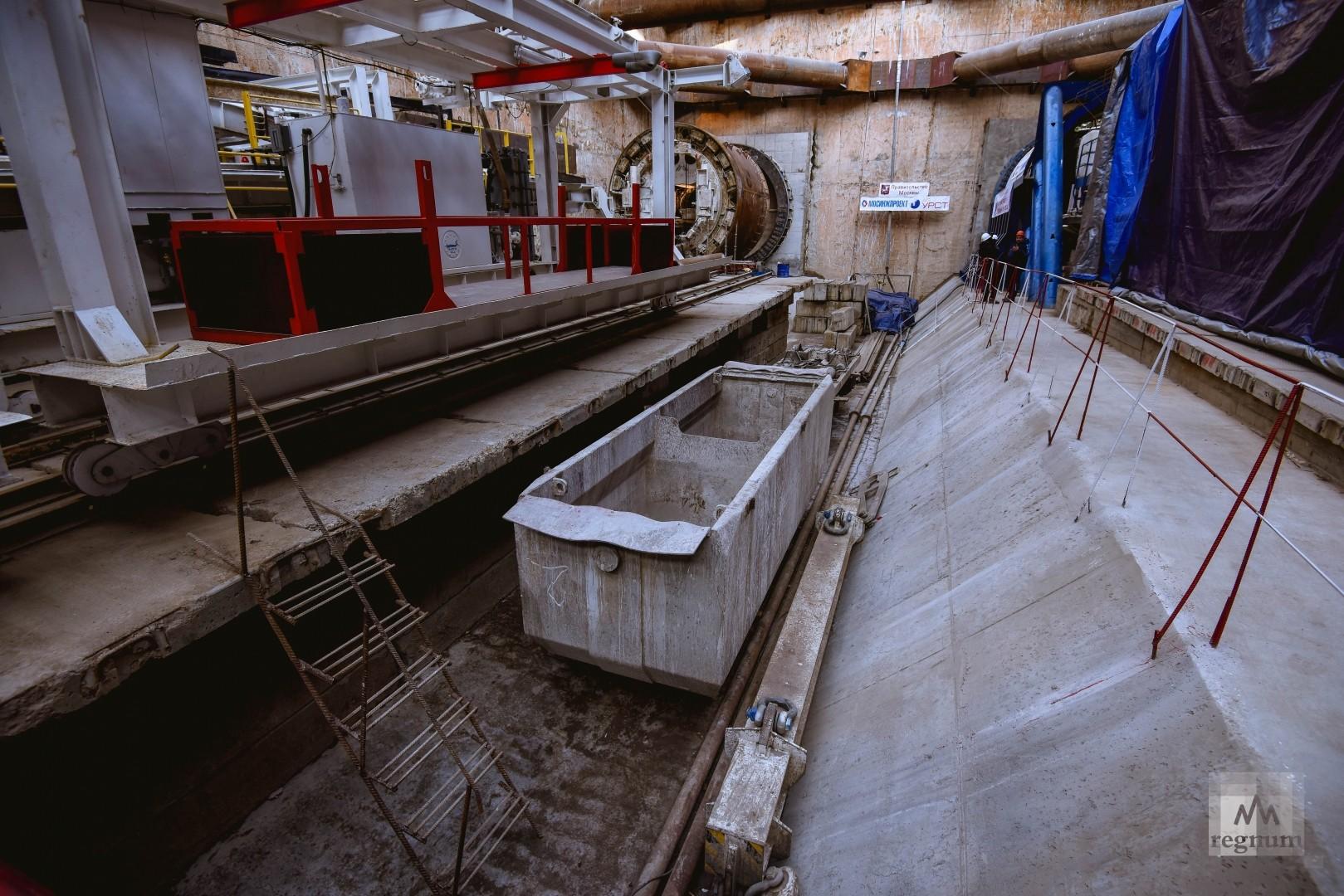 Прокладка тоннеля метро в сторону микрорайона Коммунарка Новой Москвы