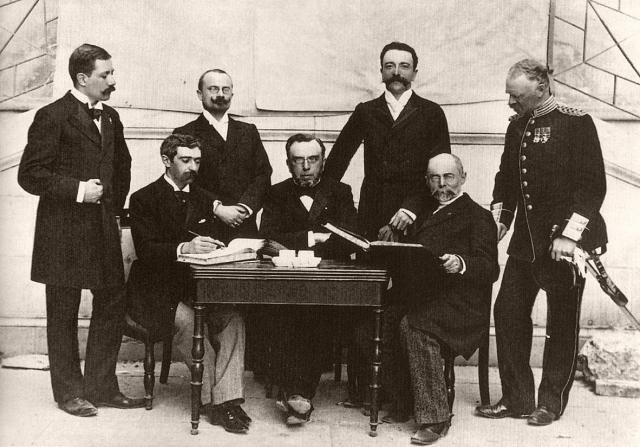 Международный олимпийский комитет (МОК), в котором Кубертен был избран на должность генерального секретаря. 1894