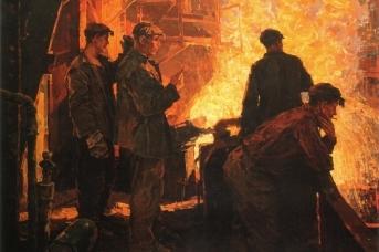 Фёдор Разин. Сталь идет (Бригада сталеваров). 1961