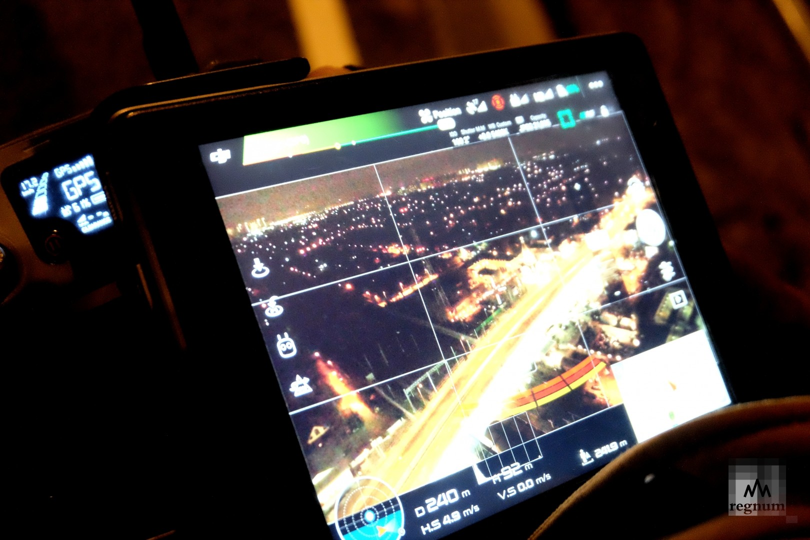 Вид эстакады с экрана беспилотника
