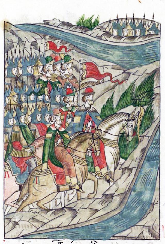 Дмитрий Донской на пути к Куликову полю