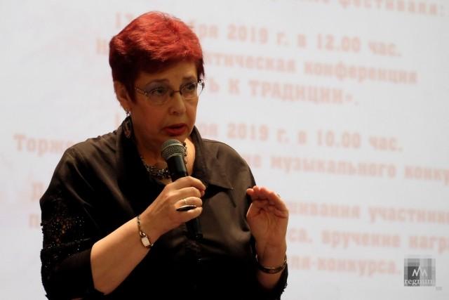 Марина Чернова ведущая музыкального фестиваля конкурса памяти Г.В.Свиридова