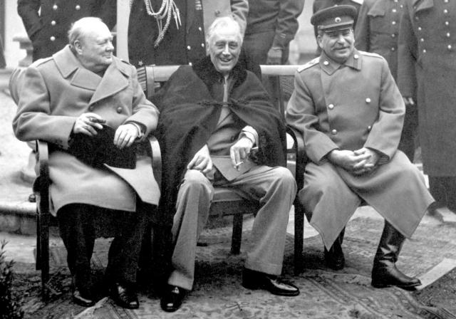 Сталин, Рузвельт и Черчилль. Ялта. 1945