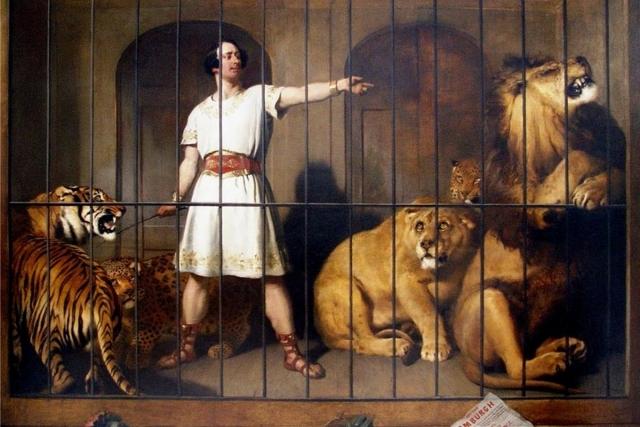 Эдвин Ландсир. Портрет мистера Ван Амбурга, когда он появлялся со своими животными в лондонском театре. 1847