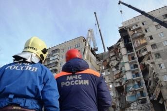 Последствия взрыва в жилом доме в Магнитогорске