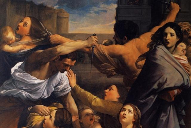 Гвидо Рени. Избиение младенцев (фрагмент). 1611