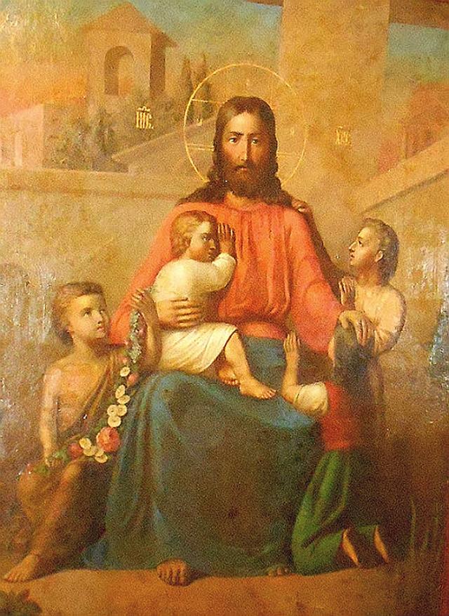 Икона «Благословение детей». Спасо-Парголовский храм (Санкт-Петербург)