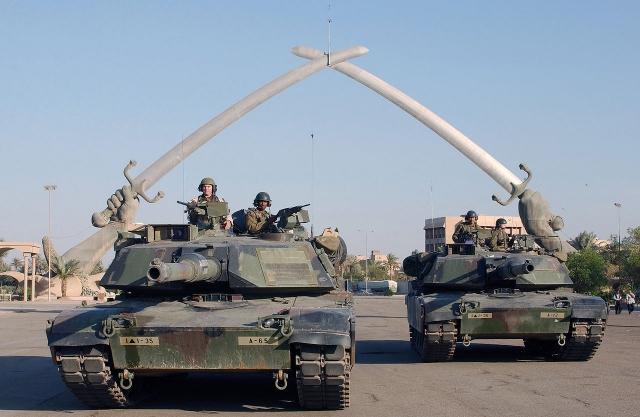 Американские войска в Багдаде. 2003