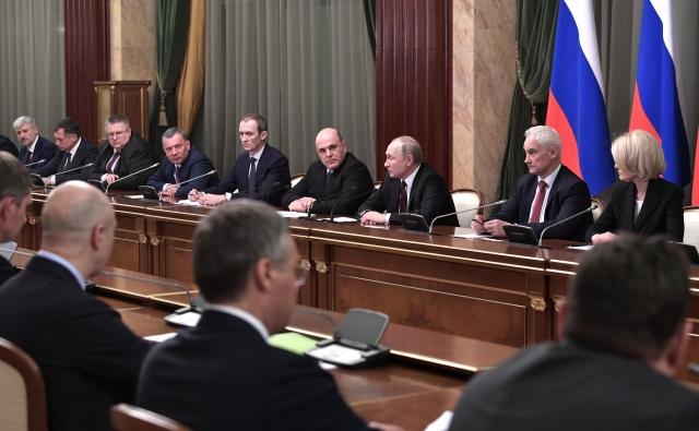 Встреча Владимира Путина с новым составом Правительства. 21 января 2020