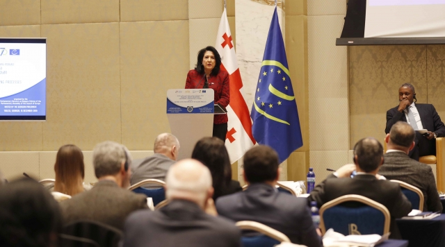 Президент Саломе Зурабишвили на Парламентской ассамблее Совета Европы (ПАСЕ)