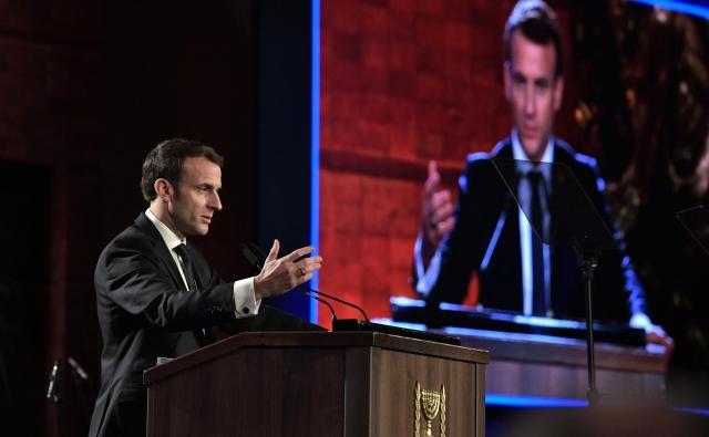 Выступление Эммануэля Макрона на форуме «Сохраняем память о Холокосте, боремся с антисемитизмом». 23 января 2020 года, Иерусалим