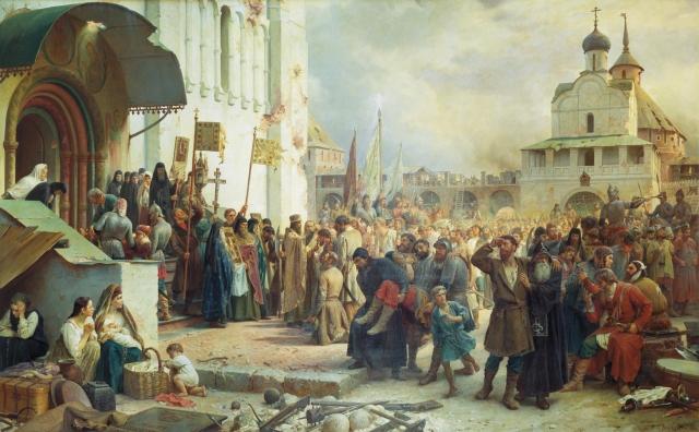 Василий Петрович Верещагин. Осада Троице-Сергиевой лавры(Смута). 1891
