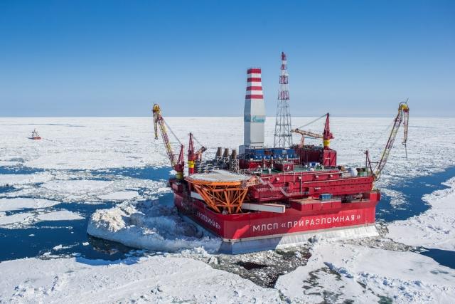 Морская ледостойкая стационарная платформа (МЛСП) «Приразломная». Россия