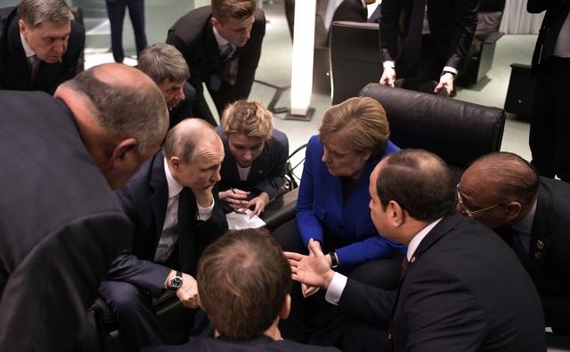 На Международной конференции по Ливии. 19 января 2020 года, Берлин