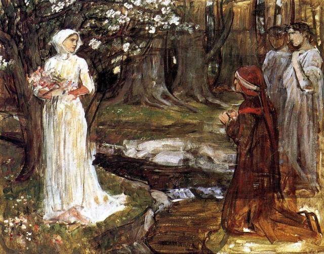 Джон Уотерхаус. Данте и Беатриче. 1915