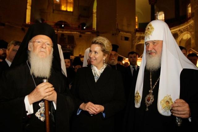 Патриарх КонстантинопольскийВарфоломей и патриарх всея Руси Кирилл