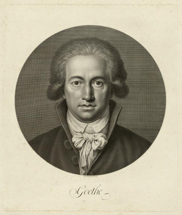 Иоганн Липс. Иоганн Вольфганг фон Гёте. 1791 г