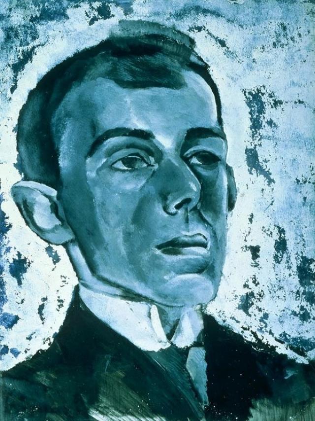 Лев Бруни. Портрет Мандельштама. 1916 г