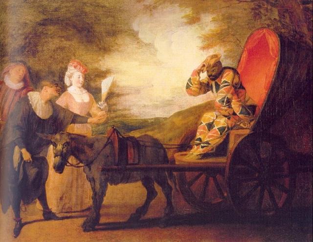 Антуан Ватто. Арлекин-имератор Луны. 1707