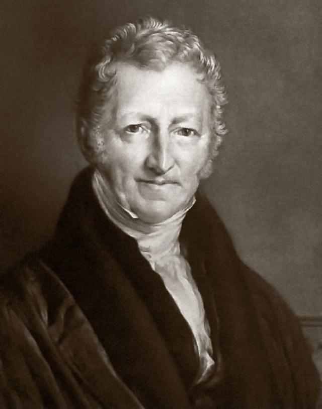 Джон Линнелл. Портрет Томаса Мальтуса. 1833