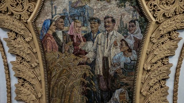 Дружба русских и украинских колхозников