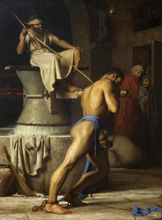 Генрих Блох. Самсон и филистимляне