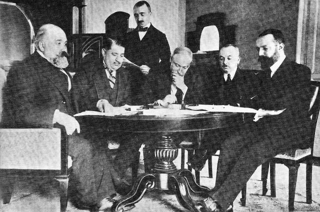 Турецкая и итальянская делегации в Лозанне
