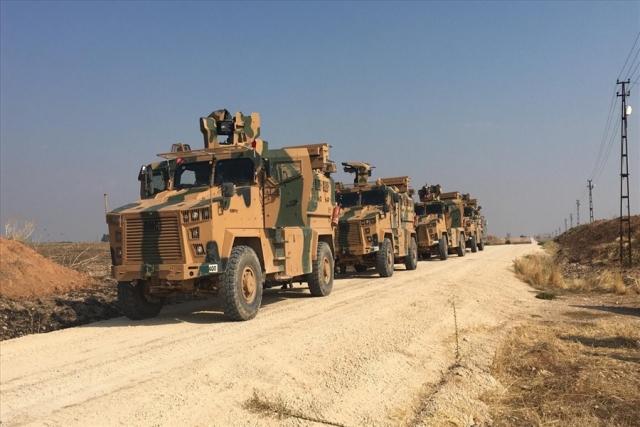 Совместное российско-турецкое патрулирование зоны безопасности у сирийско-турецкой границы