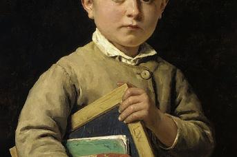 Альберт Анкер. Школьник. 1881