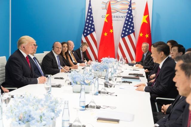 Встреча Дональда Трампа и Си Цзиньпина на саммите G20 в Германии. 2017