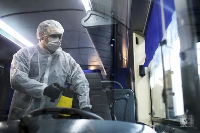 Меры по противодействию распространения коронавирусной инфекции в общественном транспорте Санкт-Петербурга