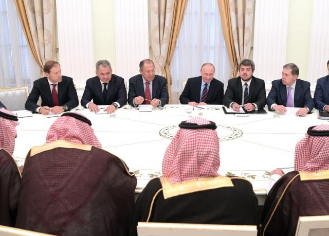 Встреча Владимира Путина с наследным принцем Саудовской Аравии Мухаммедом бен Салманом