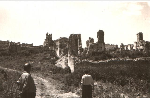Руины армянского района Шуши в 1955 году