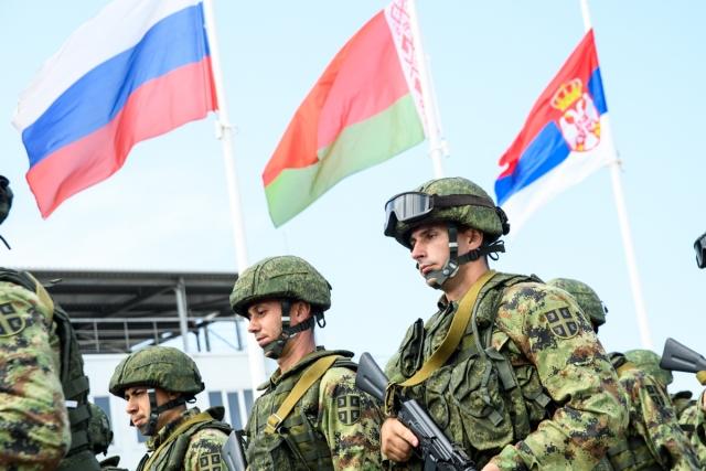 Церемония открытия совместного тактического учения «Славянское братство-2018»