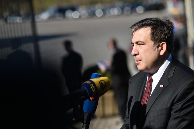 Михаил Саакашвили дает интервью