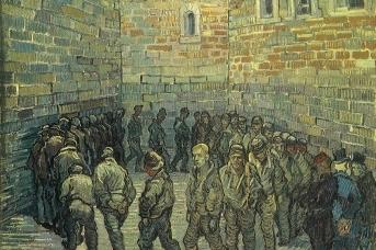 Винсент Ван Гог. Прогулка заключенных (по мотивам Доре). 1890