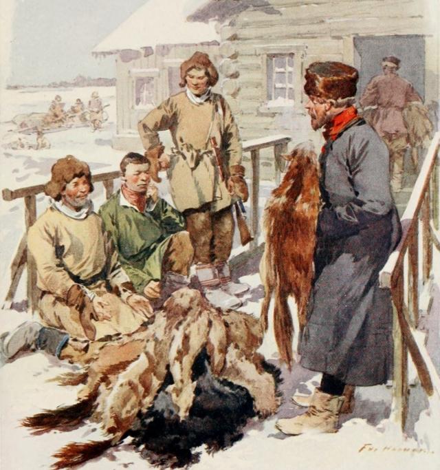 Фредерик де Ханен. Северные торговцы пушниной. 1913