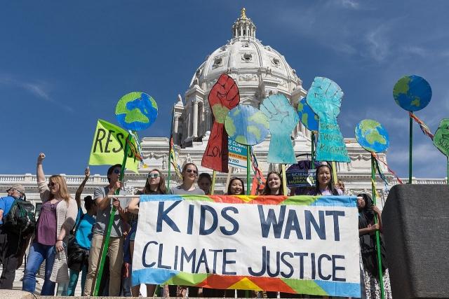 Детский марш за климатическую справедливость. Миннесота. США. 2017